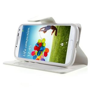 Diary PU kožené pouzdro na mobil Samsung Galaxy S4 - bílé - 3