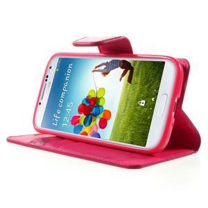 Diary PU kožené pouzdro na mobil Samsung Galaxy S4 - rose - 3
