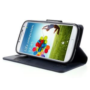 Diary PU kožené pouzdro na mobil Samsung Galaxy S4 - tmavěmodré - 3