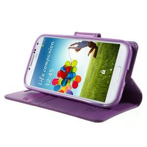 Diary PU kožené pouzdro na mobil Samsung Galaxy S4 - fialové - 3