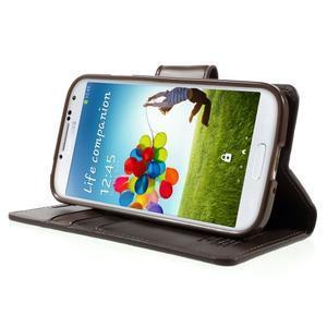 Diary PU kožené pouzdro na mobil Samsung Galaxy S4 - coffee - 3