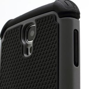 Outdoor odolný silikonový obal na Samsung Galaxy S4 - šedý - 3