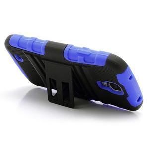 Odolný ochranný silikonový kryt na Samsung Galaxy S4 - modrý - 3