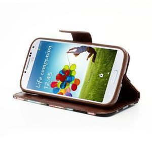 Květinové pouzdro na mobil Samsung Galaxy S4 - černé pozadí - 3