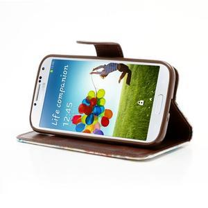 Květinové pouzdro na mobil Samsung Galaxy S4 - bílé pozadí - 3