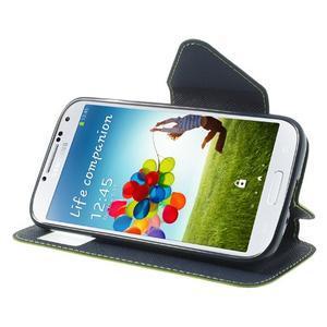 Okýnkové peněženkové pouzdro na mobil Samsung Galaxy S4 - zelené - 3