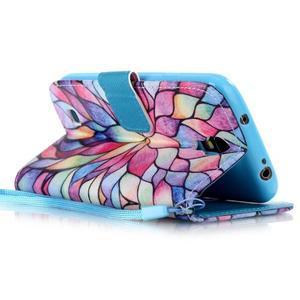 Diary peněženkové pouzdro na mobil Samsung Galaxy S4 mini - barevné lístky - 3