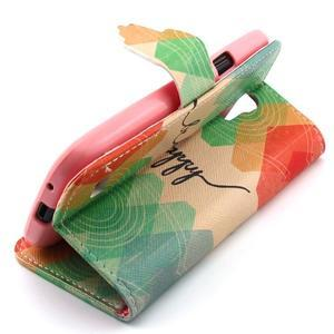 Diaryleather pouzdro na mobil Samsung Galaxy S4 mini - be happy - 3