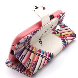 Diaryleather pouzdro na mobil Samsung Galaxy S4 mini - smile - 3