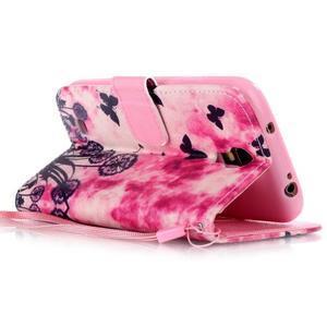 Diary peněženkové pouzdro na mobil Samsung Galaxy S4 mini - motýlci - 3