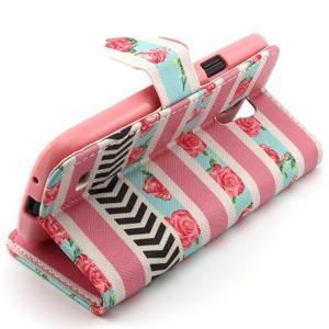 Diaryleather pouzdro na mobil Samsung Galaxy S4 mini - růže - 3