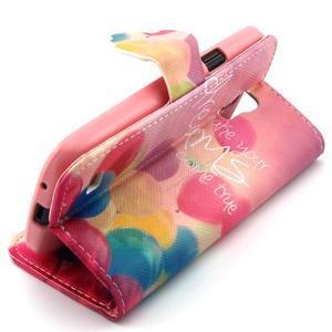 Diaryleather pouzdro na mobil Samsung Galaxy S4 mini - balónky - 3