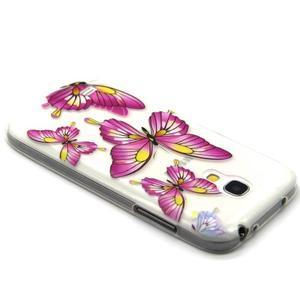 Transparentní gelový obal na Samsung Galaxy S4 mini - motýlci - 3