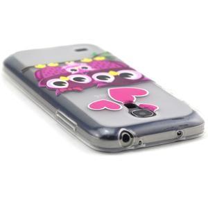 Transparentní gelový obal na Samsung Galaxy S4 mini - soví rodinka - 3