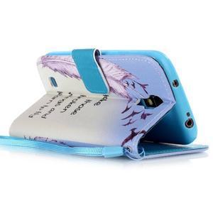 Diary peněženkové pouzdro na mobil Samsung Galaxy S4 mini - ptáčci - 3