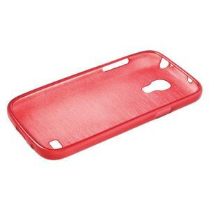 Brushed gelový obal na mobil Samsung Galaxy S4 mini - červený - 3