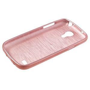 Brushed gelový obal na mobil Samsung Galaxy S4 mini - růžový - 3