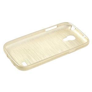 Brushed gelový obal na mobil Samsung Galaxy S4 mini - zlatý - 3