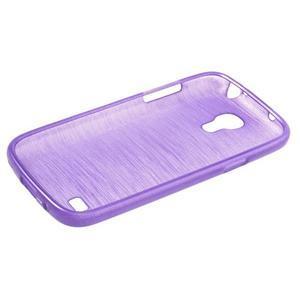 Brushed gelový obal na mobil Samsung Galaxy S4 mini - fialový - 3