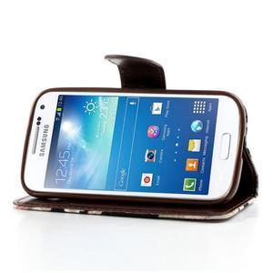 Květinkové pouzdro na mobil Samsung Galaxy S4 mini - černé pozadí - 3