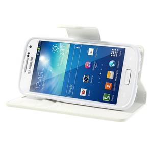 Sonata PU kožené pouzdro na mobil Samsung Galaxy S4 mini - bílé - 3