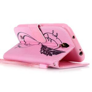 Diary peněženkové pouzdro na mobil Samsung Galaxy S4 mini - love - 3