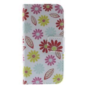 Style peněženkové pouzdro na Samsung Galaxy S4 mini - květinky - 3