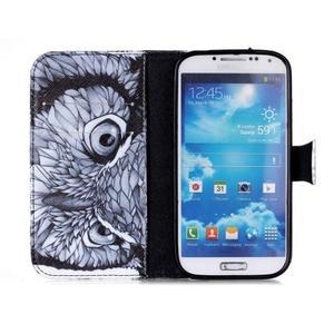 Emotive peněženkové pouzdro na Samsung Galaxy S4 mini - sova - 3