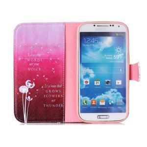 Emotive peněženkové pouzdro na Samsung Galaxy S4 mini - pampelišky - 3