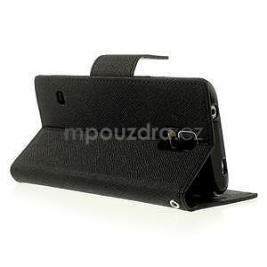 Diary peněženkové pouzdro na Samsung Galaxy S5 - černé - 3
