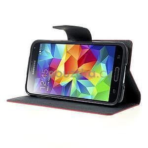 Diary peněženkové pouzdro na Samsung Galaxy S5 - rose - 3