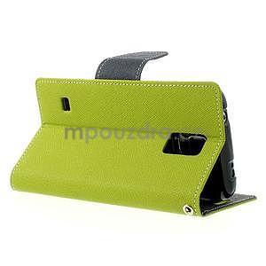 Diary peněženkové pouzdro na Samsung Galaxy S5 - zelené - 3