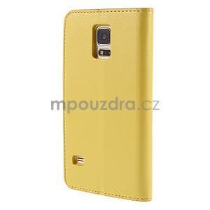 Elegantní peněženkové pouzdro na Samsung Galaxy S5 - žluté - 3