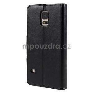 Elegantní peněženkové pouzdro na Samsung Galaxy S5 - černé - 3