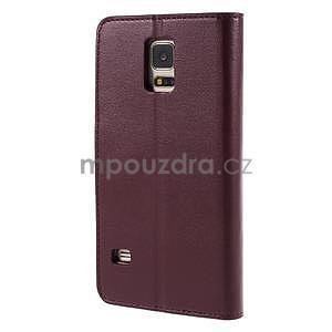Elegantní peněženkové pouzdro na Samsung Galaxy S5 - vínové - 3
