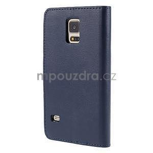 Elegantní peněženkové pouzdro na Samsung Galaxy S5 - tmavěmodré - 3