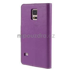Elegantní peněženkové pouzdro na Samsung Galaxy S5 - fialové - 3