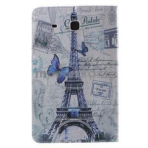 Ochranné koženkové pouzdro na Samsung Galaxy Tab E 9.6 - Eiffelova věž - 3