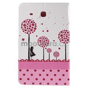 Ochranné koženkové pouzdro na Samsung Galaxy Tab E 9.6 - dívka & pamepelišky - 3