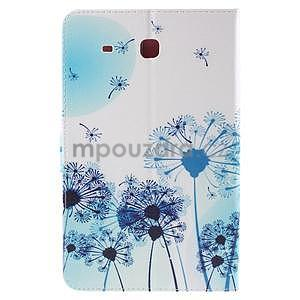 Ochranné koženkové pouzdro na Samsung Galaxy Tab E 9.6 - modrá pampeliška - 3