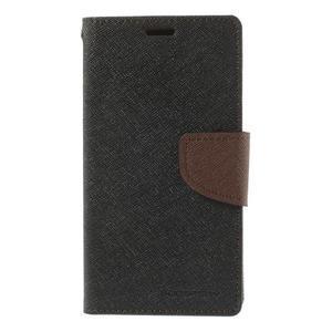 Richmercury pouzdro na mobil Sony Xperia E3 - černé/hnědé - 3