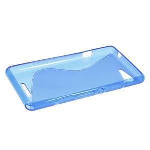 S-line gelový obal na Sony Xperia E3 - modrý - 3