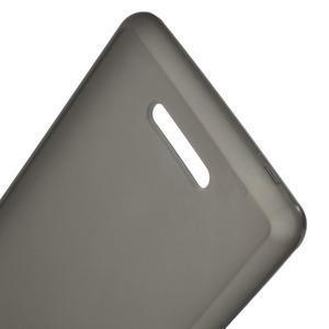 Matný gelový obal na mobil Sony Xperia E3 - šedý - 3