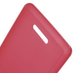 Matný gelový obal na mobil Sony Xperia E3 - červený - 3
