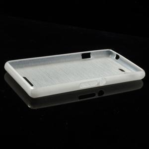 Brushed gelový obal na mobil Sony Xperia E3 - bílý - 3