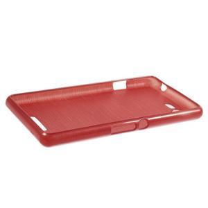 Brushed gelový obal na mobil Sony Xperia E3 - červený - 3