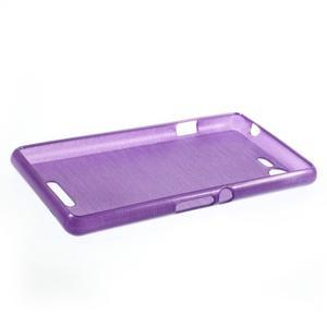 Brushed gelový obal na mobil Sony Xperia E3 - fialový - 3