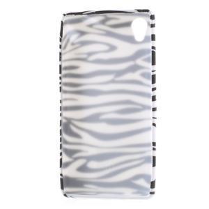 Emotive gelový obal na Sony Xperia M4 Aqua - zebra - 3