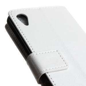 Horse PU kožené pouzdro na Sony Xperia X - bílé - 3