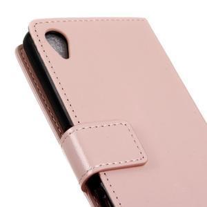 Horse PU kožené pouzdro na Sony Xperia X - růžové - 3